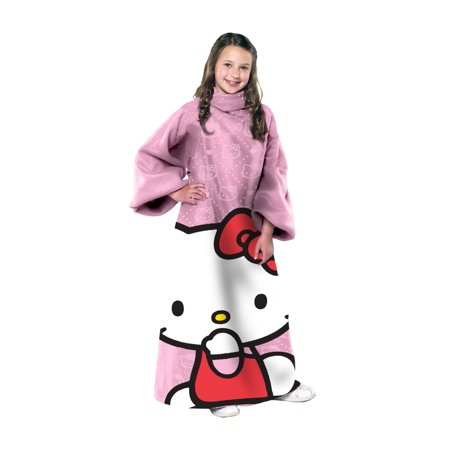 Hello Kitty Pink OOO Design Blanket/SLEEVES Comfy Throw YOUTH
