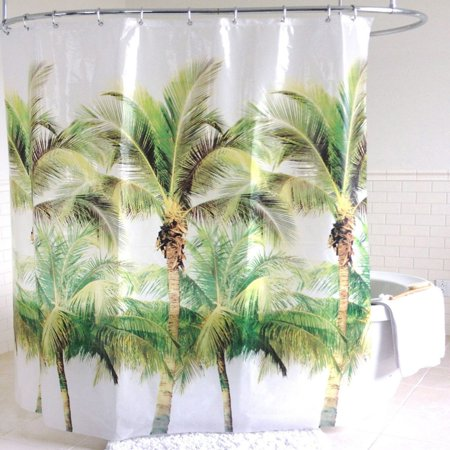 Palm Shower Curtain (Sweet Home Collection Palm Tree EVA PEVA Shower Curtain)