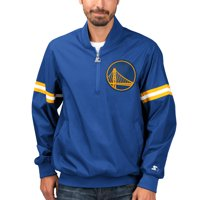 Golden State Warriors Starter The Jet II Crinkle Half-Zip Pullover Jacket - Royal