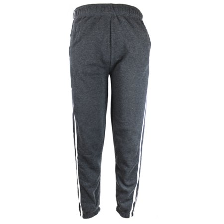 Charcoal Mens Heavyweight Athletic Fleece Sweatpants with Elastic Waist & Cuffs