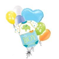 7 pc Baby Boy Elephant Onesie Balloon Bouquet Decoration Shower Welcome Home by Jeckaroonie Balloons