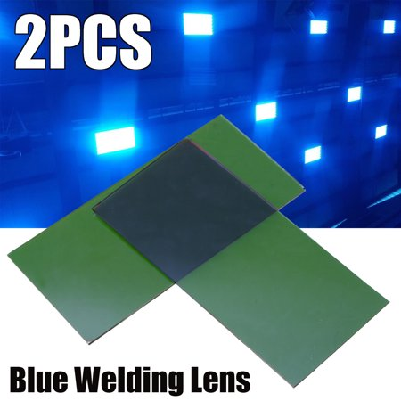 2Pcs about 5x10cm Replacement Blue Welding Lens For Welder (Green Welders Lens)