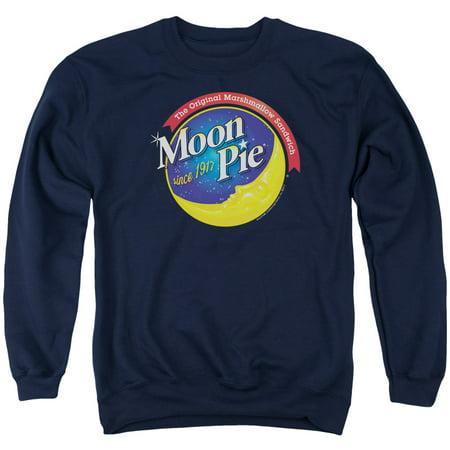 Moon Crewneck Sweatshirt (MOON PIE/CURRENT LOGO - ADULT CREWNECK SWEATSHIRT - NAVY - MD )