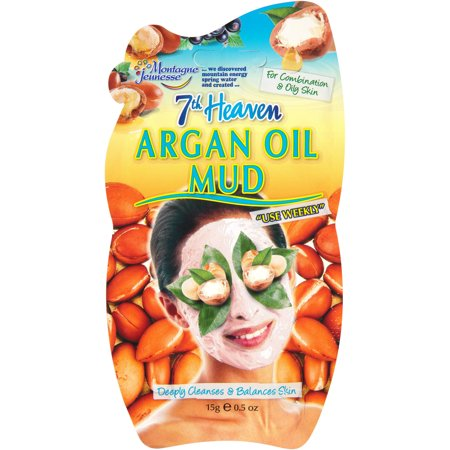 (2 pack) 7th Heaven Argan Oil Mud Face Mask, 0.5 (Active Mud Face)