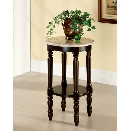 Furniture Of America Ellington Round Side Table Dark Cherry