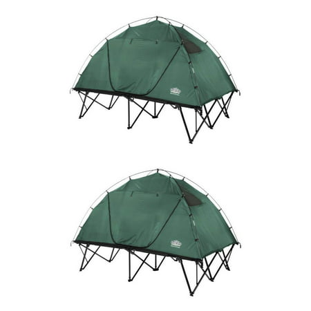 Kamp Rite CTC 2-Person Compact Collapsible Backpacking Camping Tent Cot (2 Pack)