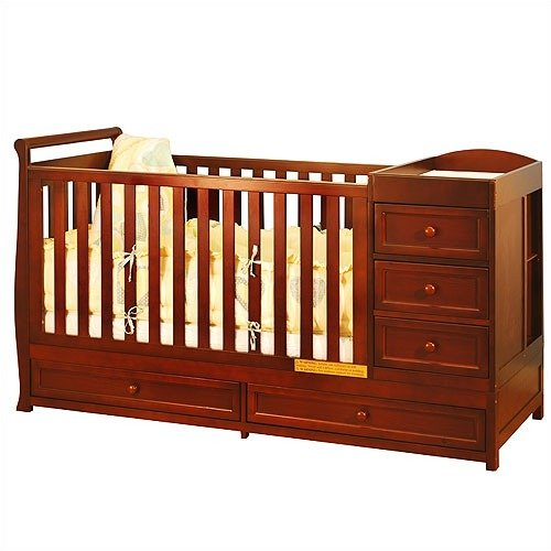AFG Baby Furniture Daphne I 2-in-1 Convertible Crib and Changer