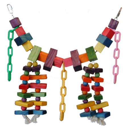 Super Bird Creations SB441 Rainbow Bridge Bird Toy, Multi-Color, X-Large