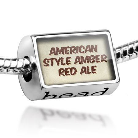 Bead American Style Amber Red Ale Beer, Vintage style Charm Fits All European