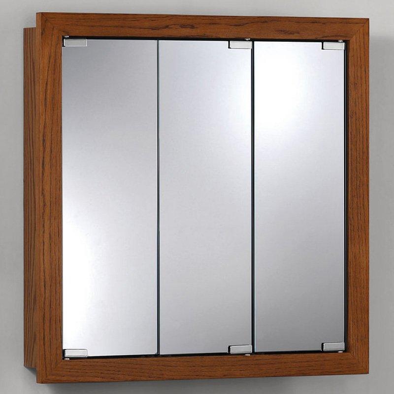 Jensen Medicine Cabinet Granville Tri-View 24W x 24H in. Surface Mount Medicine Cabinet