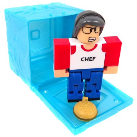 Roblox Series 3 Patient Zero Mini Figure Without Code No Packaging - Roblox Red Series 3 High School Life Lunch Lady Mini Figure Blue Cube With Online Code No Packaging