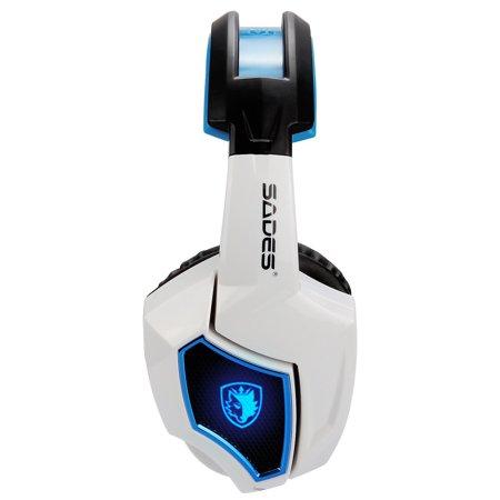 SADES Headset Spirit Wolf 7.1 Computer Headphone Gaming Blue/White - image 6 of 6