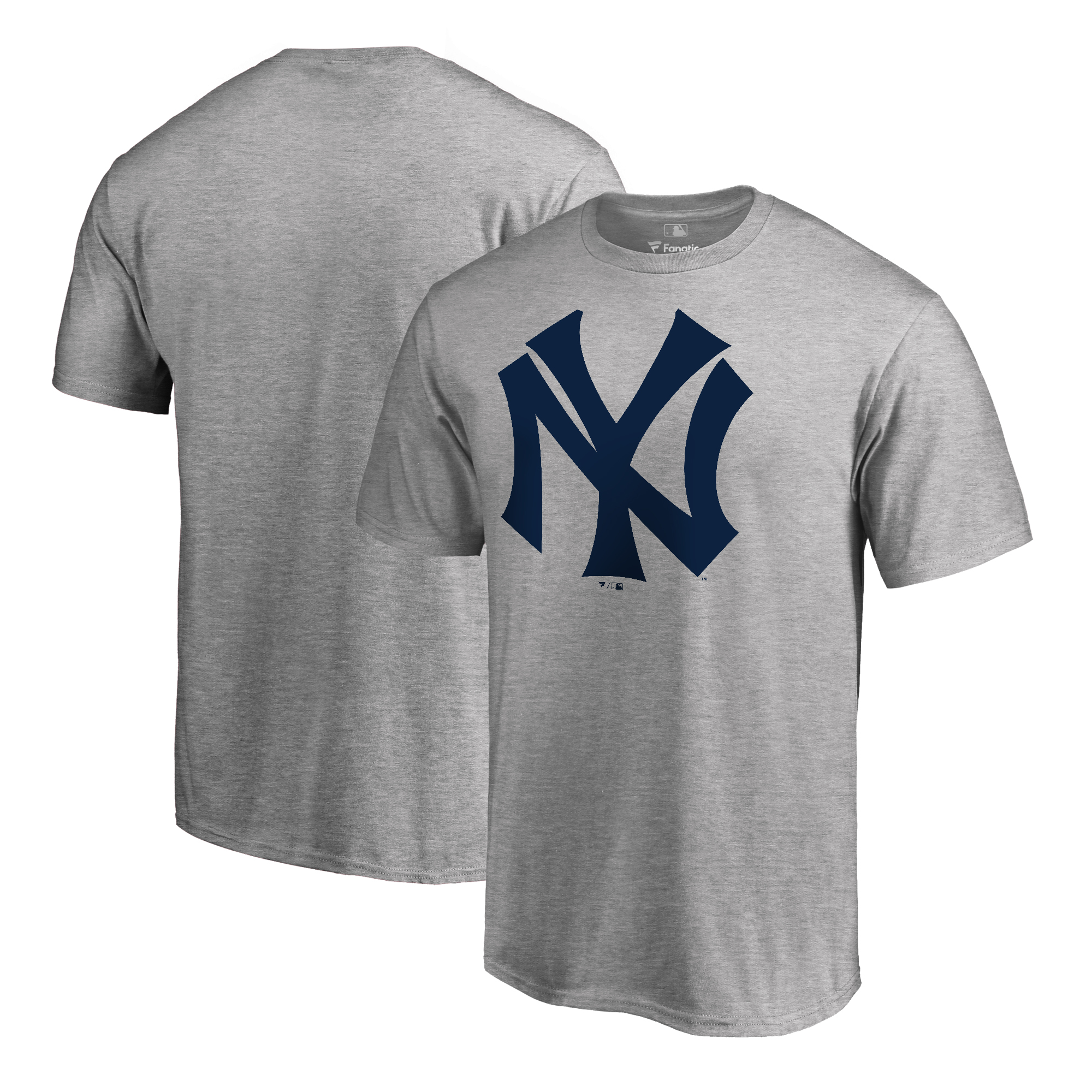 New York Yankees Fanatics Branded Big & Tall Cooperstown Collection Huntington T-Shirt - Ash