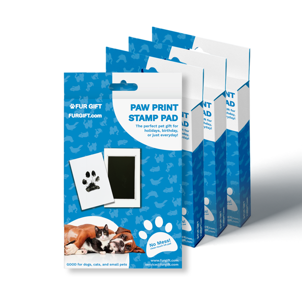 4 Pack Of Plus Size Paw Print Stamp Pads Walmart Com Walmart Com 1575 paw print stamp 3d models. walmart