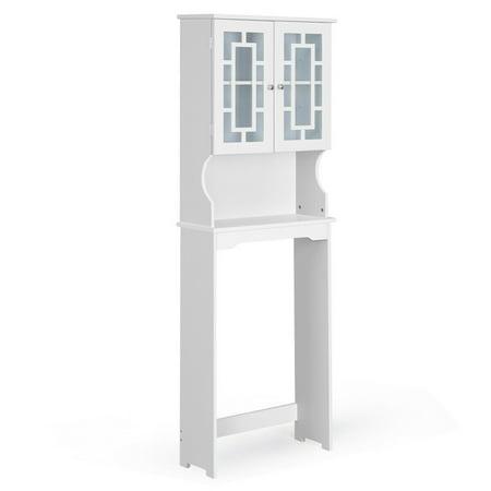 Costway Bathroom Spacesaver Over the Toilet Door Storage Cabinet Tower Organizer White ()