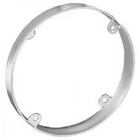 1 Pc, 3-1/2 In. Round Pan Box Extension Ring, 1/2 In. Deep, .0625 Galvanized Steel to Mount Ceiling, & Wall Lighting Fixtures
