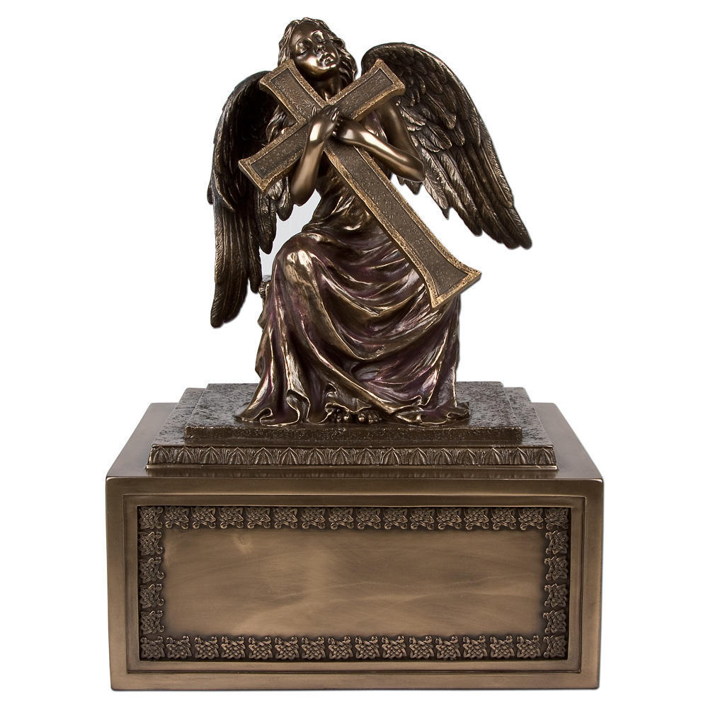 Perfect Memorials Small Angel with Cross Cremation Urn