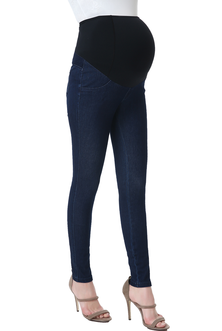 "Maternity Women's Jeggings (28.5"" Inseam) - Denim Blue M"
