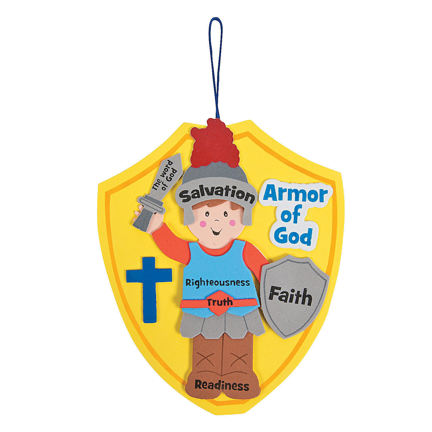 Fun Express - Armor Of God ck - Craft Kits - Hanging Decor Craft Kits - Sign Decoration Craft Kits - 12 Pieces
