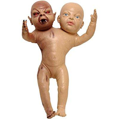 demon baby halloween prop : two headed devil twin newborn - Halloween Decorations To Make With Toddlers