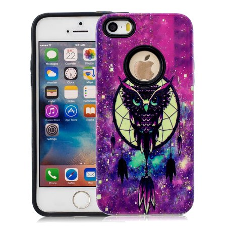 iPhone 5S Case,iPhone SE Case,iPhone 5 Case, Allytech 2 in 1 Ultra Slim Hard PC Soft TPU Bumper Anti-Scratch Shockproof Protective Case Cover for Apple iPhone SE / 5S / - Halloween In 5s Online Office
