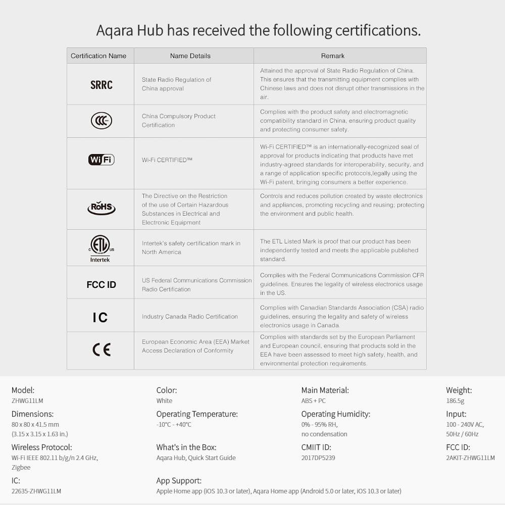 Xiaomi Mijia Aqara Hub Mi Gateway with RGB Led Night Light Smart Work with  Apple Homekit and Mi Home Aqara App