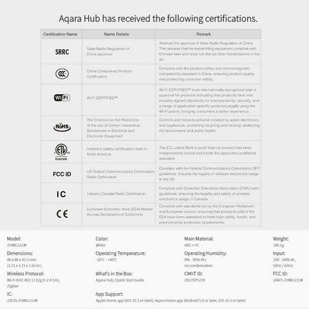 Xiaomi Mijia Aqara Hub Mi Gateway with RGB Led Night Light