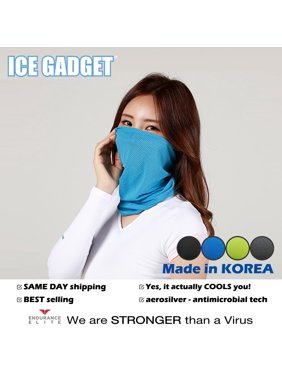 Blue Cooling Neck Gaiter Mask Tube Scarf Half Face Mask Ultra Breathable Balaclava -Cycling Fishing Running Hunting Motorcycle