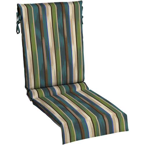 Awesome Mainstays Sling Chair Outdoor Cushion, Green Blue Stripe