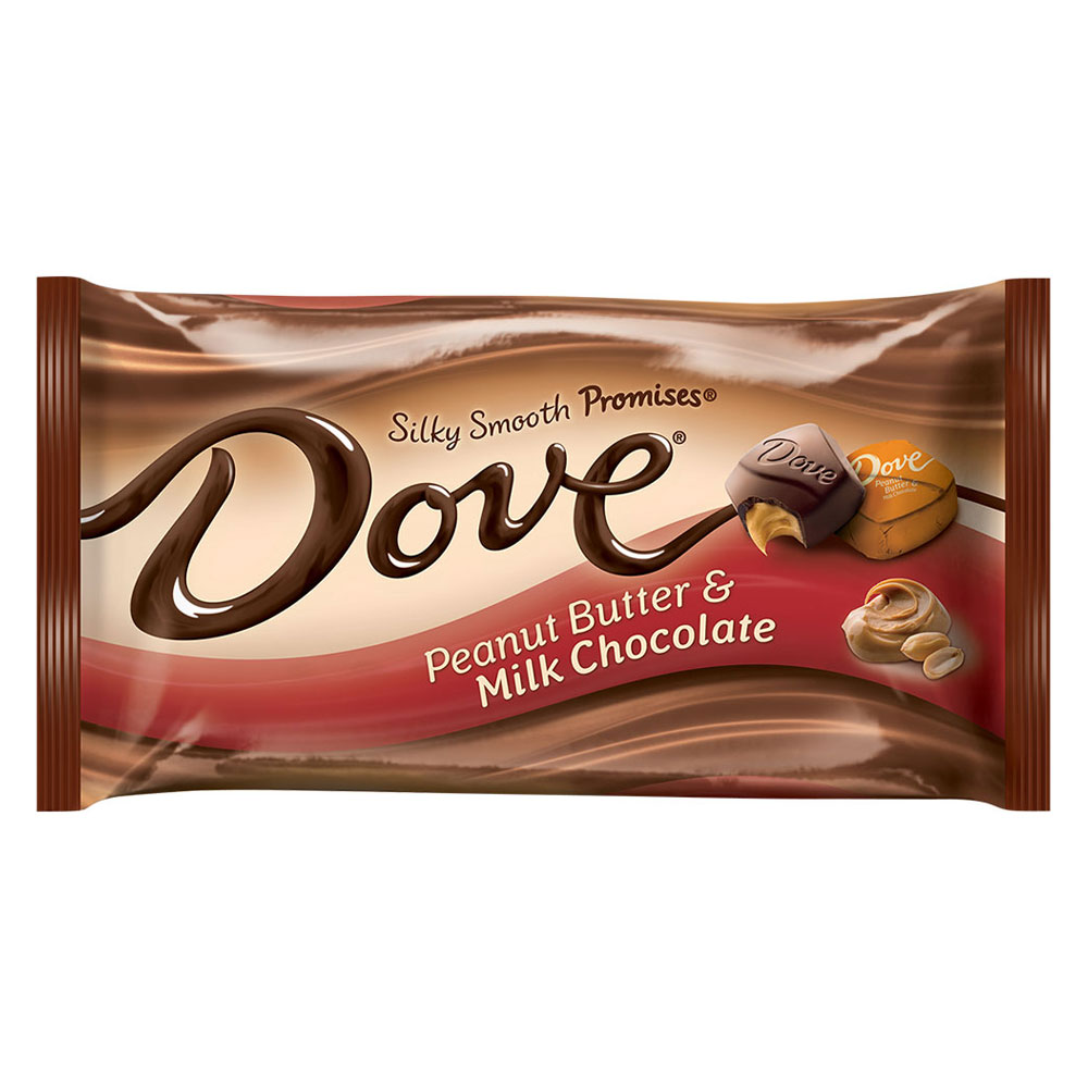 DOVE PROMISES Peanut Butter and Milk Chocolate Candy Bag, 7.94 oz by MARS, INC.