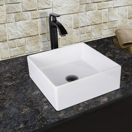 VIGO Dianthus Matte Stone Vessel Sink and Linus Bathroom Vessel Faucet in Antique Rubbed Bronze with Pop up