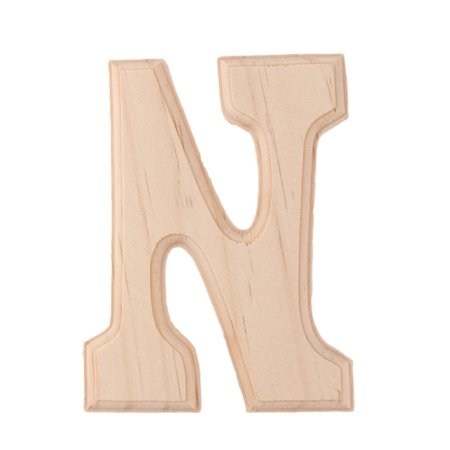 Letter English Alphabet - Home Bedroom Wooden Decor English N Letter Alphabet Free DIY Wall Wood Color