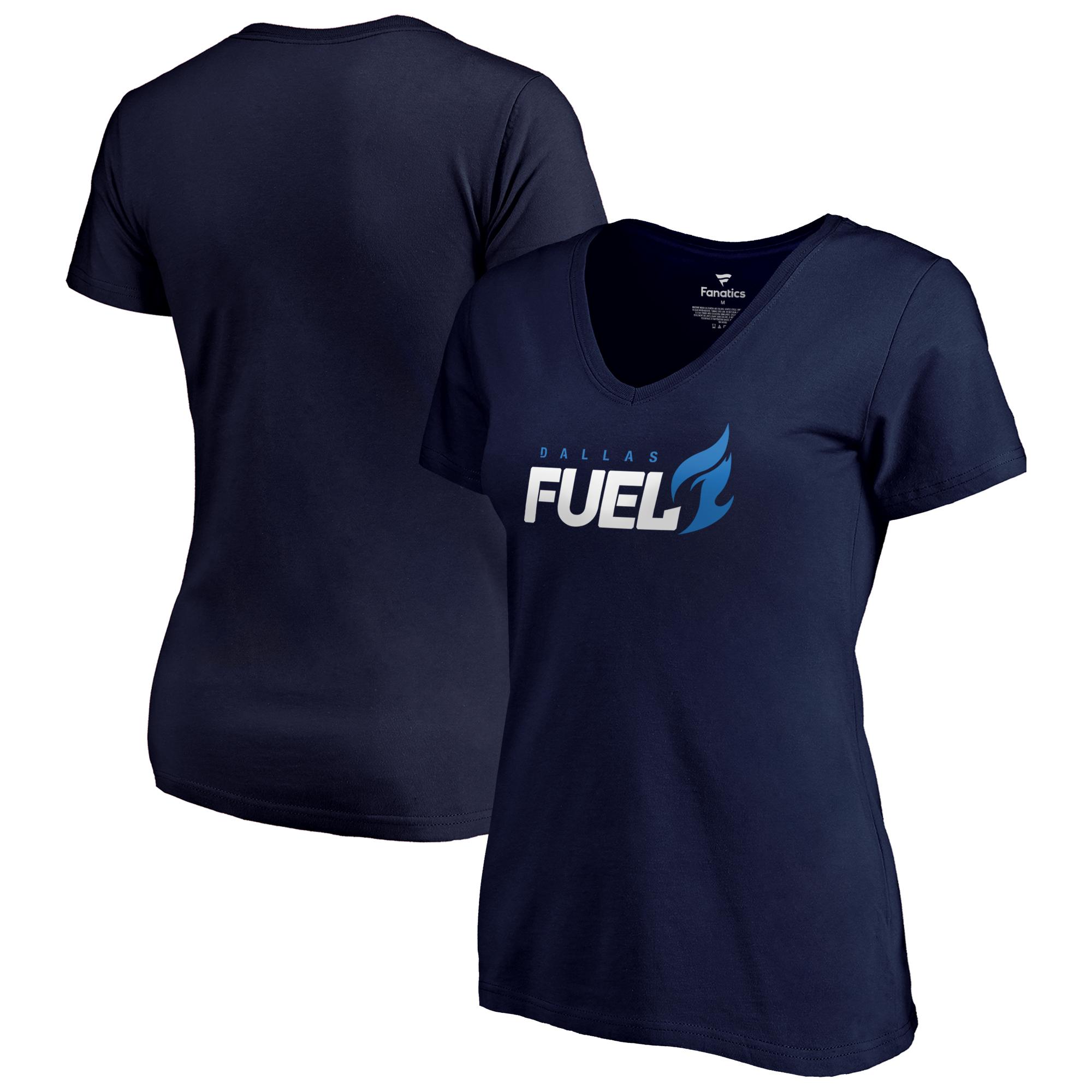 Dallas Fuel Fanatics Branded Women's Team Identity V-Neck T-Shirt - Navy