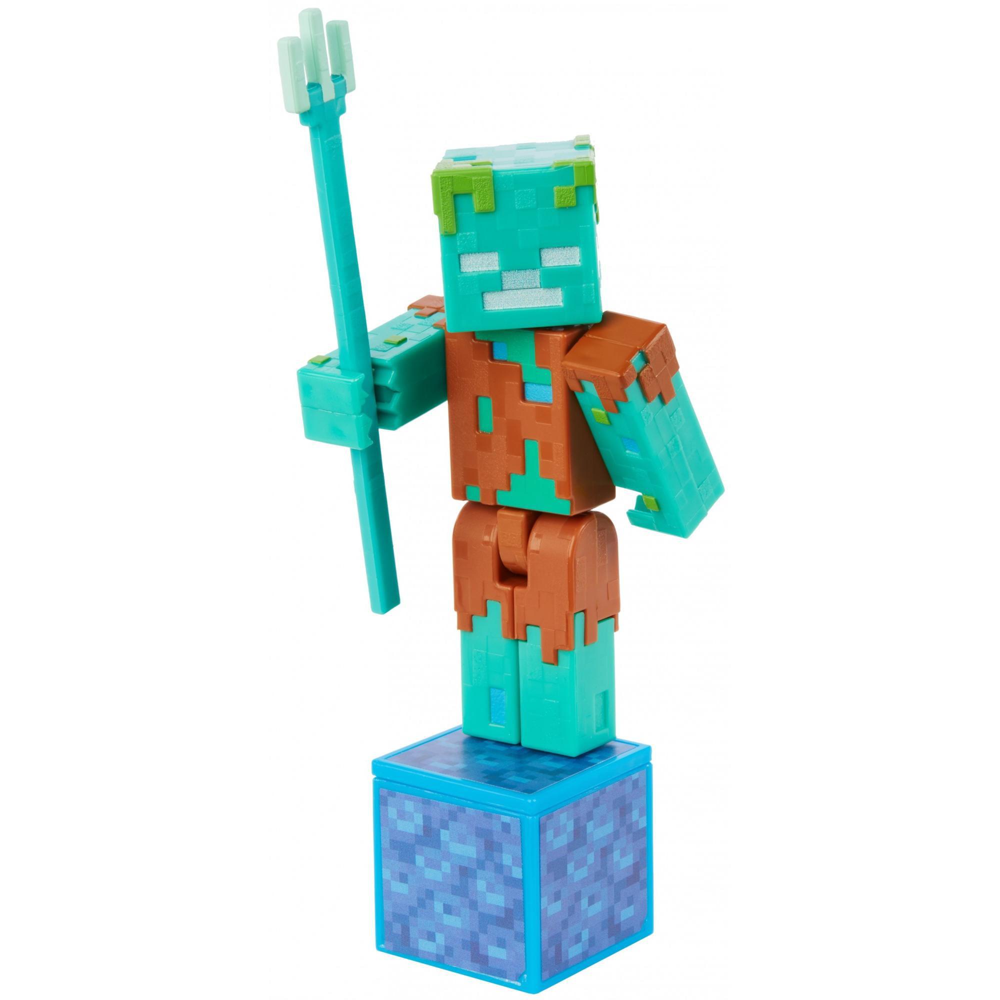 Minecraft Comic Maker Drowned Action Figure - Walmart.com