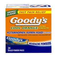 3 Pack Goodys Cool Orange Extra Strength Headache Powder 24 Sealed Packets Each
