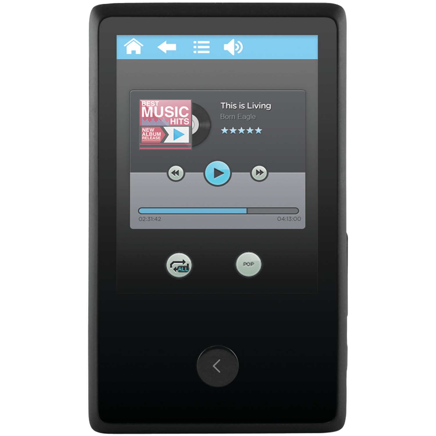"Ematic EM318VIDBL 2.4"" 8GB Touchscreen MP3 Video Player with Bluetooth"