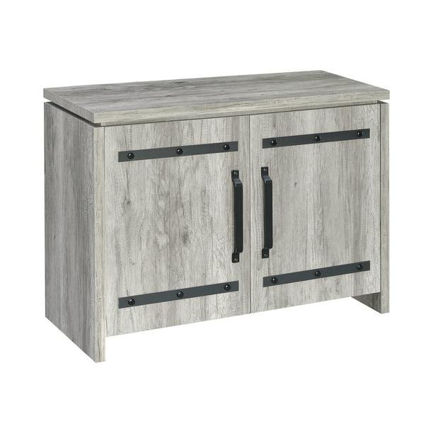 Contemporary 2 Door Accent Cabinet, Rustic Grey
