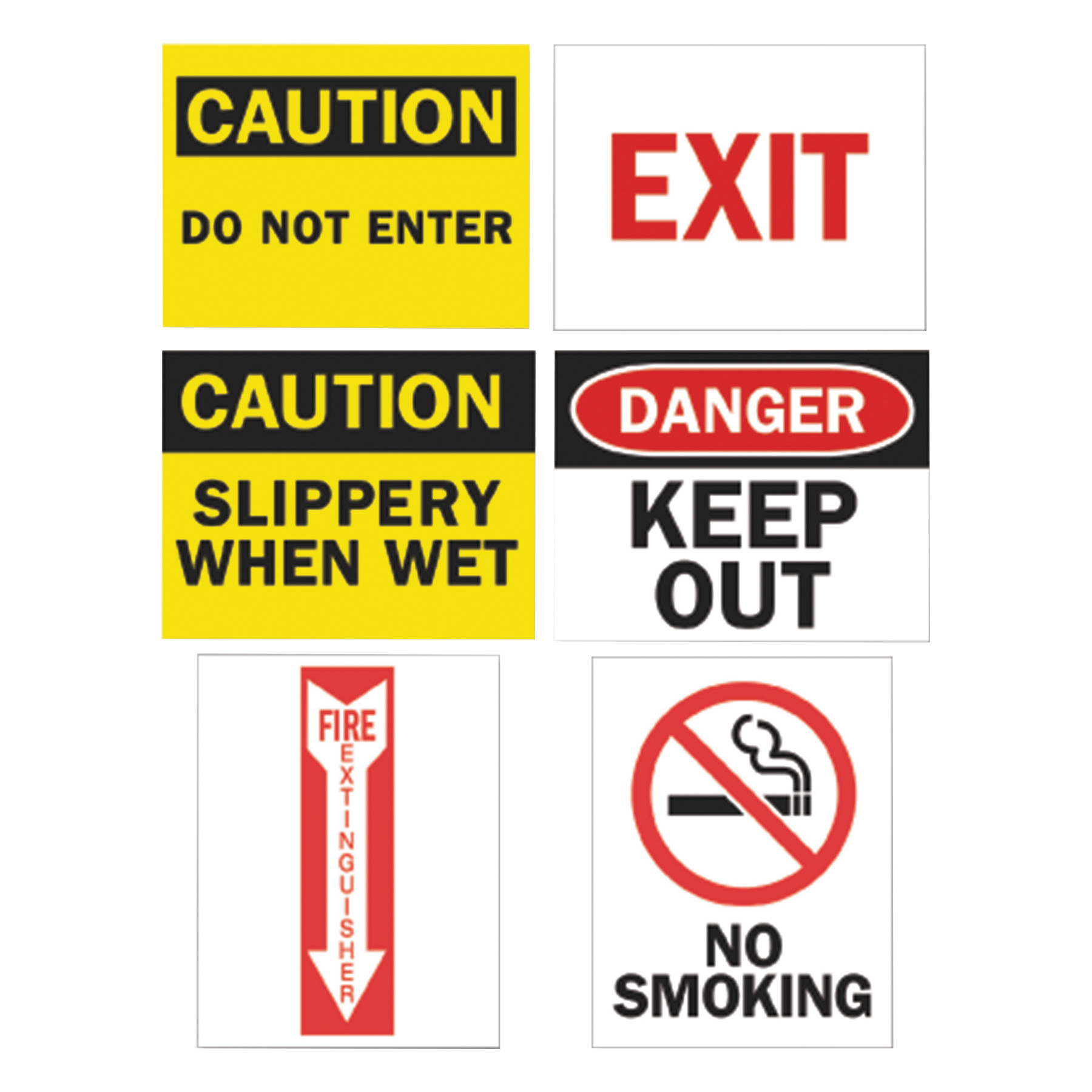 Tarifold Magneto Safety Sign Inserts, Six Assorted Messages, 8 3 4 x 11 1 4, 12 Pack... by TARIFOLD, INC.