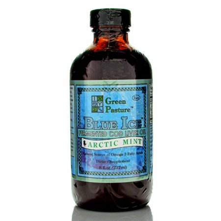 Blue Ice Fermented Cod Liver Oil  8 Fl Oz 240Ml  Arctic Mint