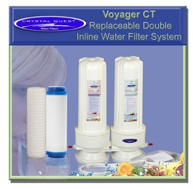 CRYSTAL QUESTA Voyager Inline Double Replaceable ULTIMATE Water Filter System