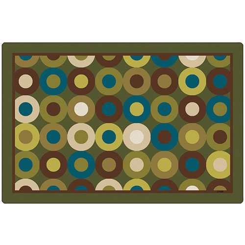 Carpets for Kids Calming Circles Nature's Colors Kids Rug