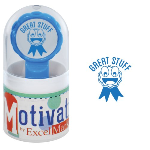Motivations Pre-inked Teacher Stamp - Great Stuff (Ribbon) - Blue Ink