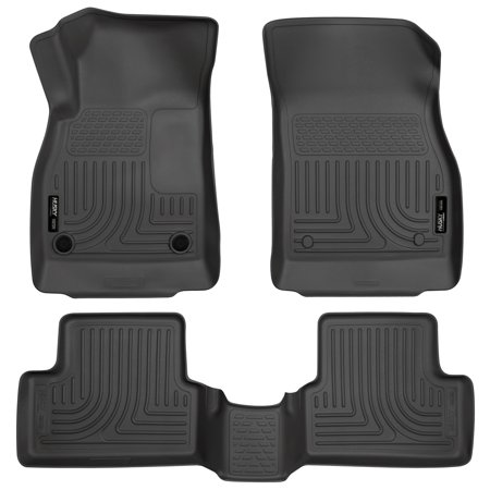 Husky Liners Front & 2nd Seat Floor Liners Fits 11-15 Cruze, 16-16 Cruze Limited Black Second Seat Floor Liners