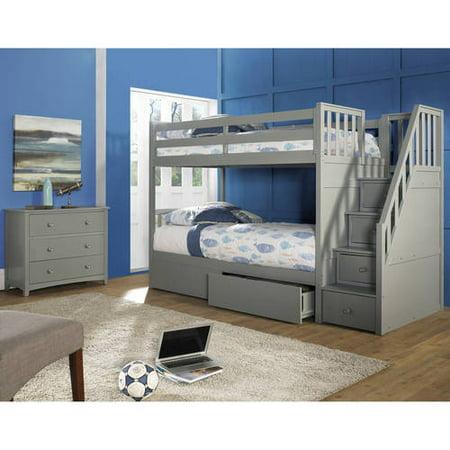 Stair Bunk Bed Storage Drawers Multiple