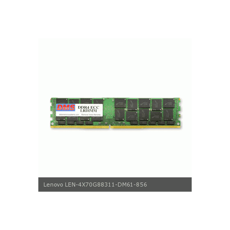 DMS Compatible/Replacement for Lenovo 4X70G88311 ThinkServer RD650 70DT 32GB DMS Certified Memory DDR4-2133 (PC4-17000) 4096x72 CL15  1.2v 288 Pin ECC Registered DIMM - DMS 32 Dimm Memory Carrier