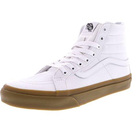 Sk8-Hi Slim Light Gum True White High-Top Canvas Skateboarding Shoe - 10M/8.5M