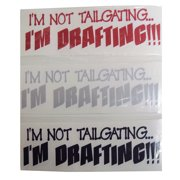 Graphic Designs 90Fun IM NOT TAILGAITING IM DRAFTING Vinyl Decal Sticker, 90 FUN
