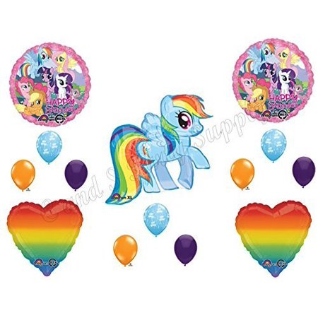 Rainbow Dash Party Supplies (MY LITTLE PONY RAINBOW DASH Birthday party Balloons Decoration Supplies by)