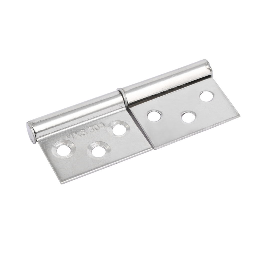 62mmx24mm 6 Holes 360 Degree Rotatable Door Pivot Hinges Silver Tone 2pcs