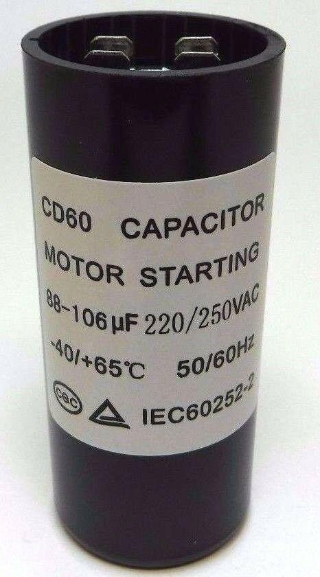 Motor Start Capacitor Round 88-106 uF MFD 220V 250V VAC 36x86mm CD60
